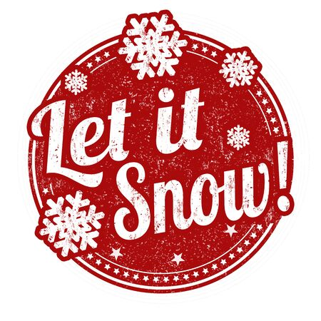 let it snow: Let it snow grunge rubber stamp on white background, vector illustration