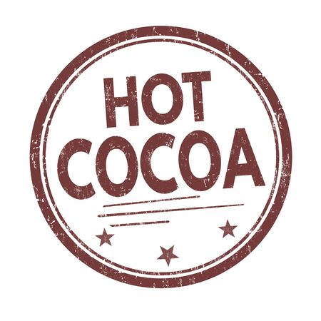 cocoa: Hot cocoa grunge rubber stamp on white background, vector illustration