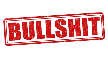 Bullshit grunge rubber stempel op een witte achtergrond, vector illustratie