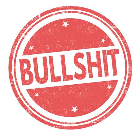 Bullshit grunge rubber stamp on white background, vector illustration