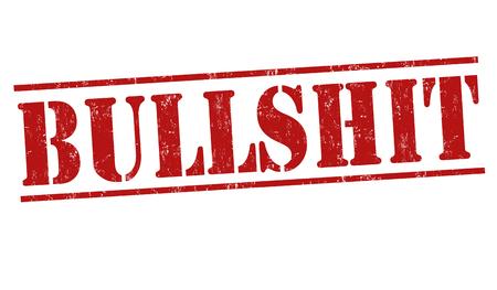 nonsense: Bullshit grunge rubber stamp on white background, vector illustration
