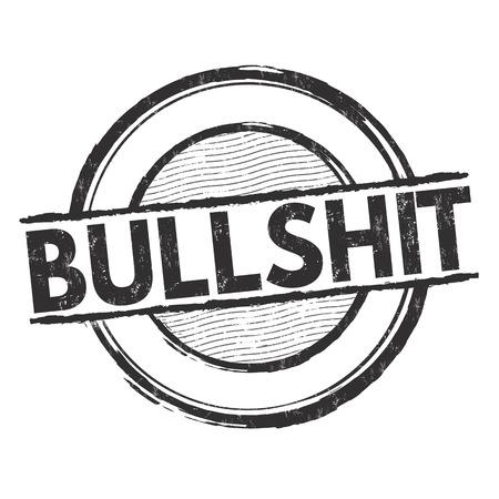 bullshit: Bullshit grunge rubber stamp on white background, vector illustration