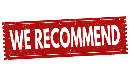 we recommend: We recommend grunge rubber stamp on white background, vector illustration