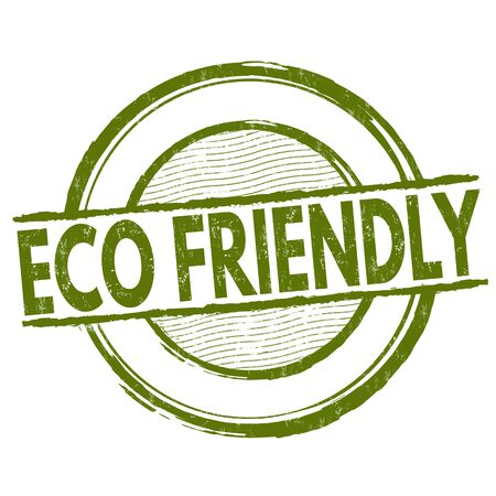 Eco friendly grunge rubber stamp on white background, vector illustration