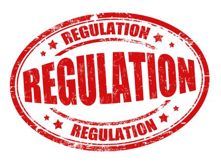 govern: Regulation grunge rubber stamp or sign on white background, vector illustration