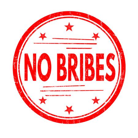 denial: No bribes grunge rubber stamp on white background, vector illustration