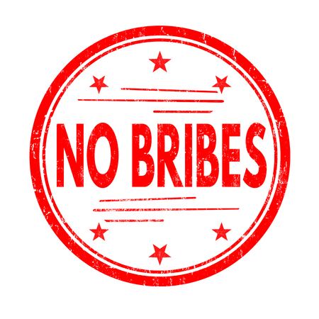 No bribes grunge rubber stamp on white background, vector illustration