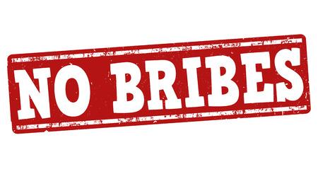 gratification: No bribes grunge rubber stamp on white background, vector illustration