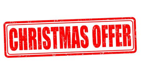 sellout: Christmas offer grunge rubber stamp on white background, vector illustration Illustration