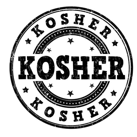 Kosher grunge rubber stamp on white background, vector illustration