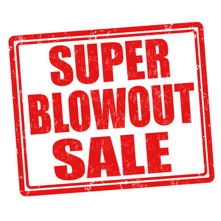 blowout: Super Blowout Sale grunge rubber stamp on white background, vector illustration Illustration