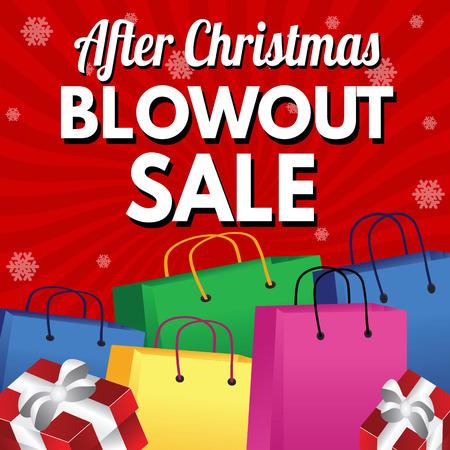blowout: Super Blowout Sale promotional poster, vector illustration