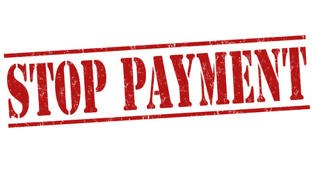 stopped: Stop payment grunge rubber stamp on white background, vector illustration