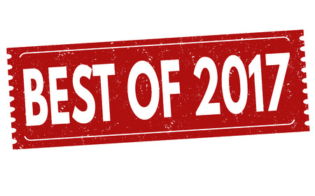 best background: Best of 2017 grunge rubber stamp on white background, vector illustration Illustration
