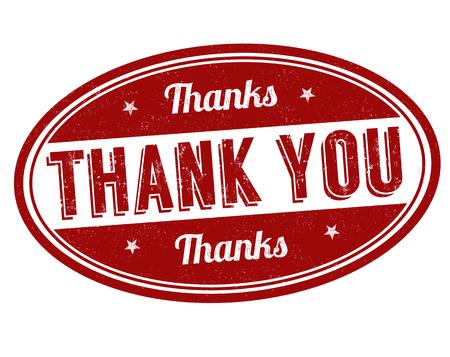 gratefulness: Thank you grunge rubber stamp on white background, vector illustration