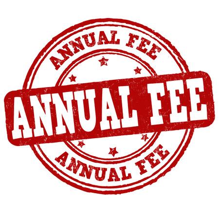 emolument: Annual fee grunge rubber stamp on white background, vector illustration