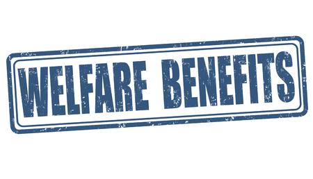 eligible: Welfare benefits grunge rubber stamp on white background, vector illustration