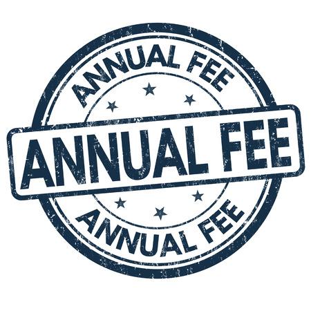 fee: Annual fee grunge rubber stamp on white background, vector illustration