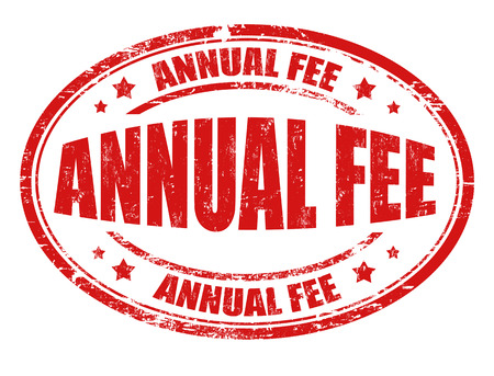 honorarium: Annual fee grunge rubber stamp on white background, vector illustration