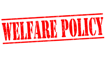 nhs: Welfare policy grunge rubber stamp on white background, vector illustration