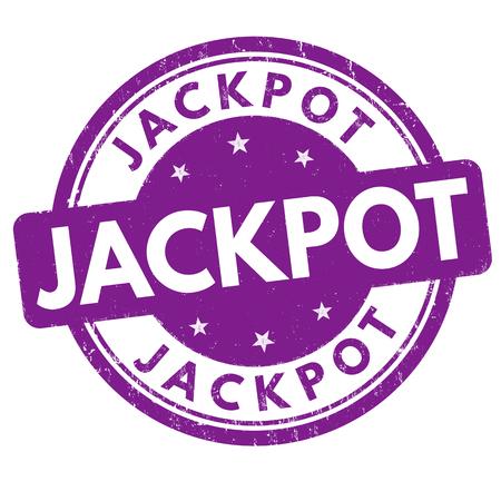 Jackpot grunge rubber stamp on white background, vector illustration