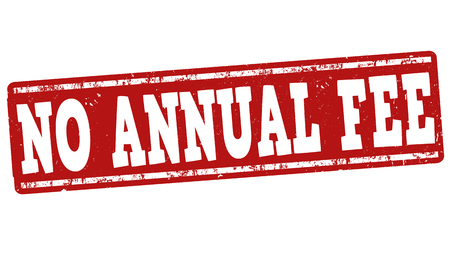 emolument: No annual fee grunge rubber stamp on white background, vector illustration