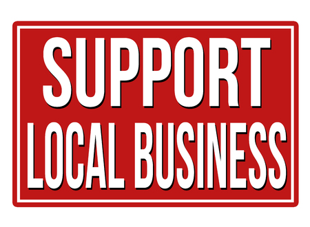 quality regional: Support local business  red sign isolated on a white background, vector illustration Illustration