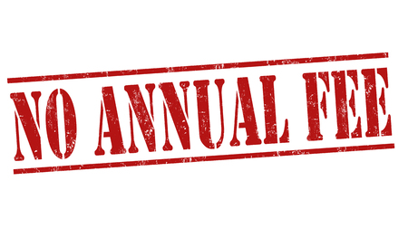 fee: No annual fee grunge rubber stamp on white background, vector illustration