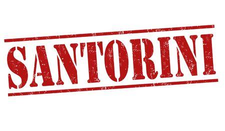 santorini: Santorini grunge rubber stamp on white background, vector illustration