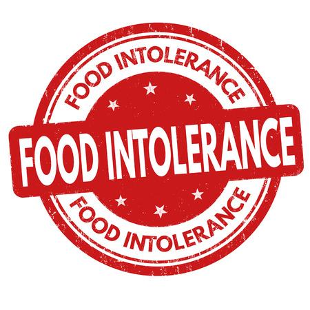 lactose intolerant: Food intolerance grunge rubber stamp on white background, vector illustration