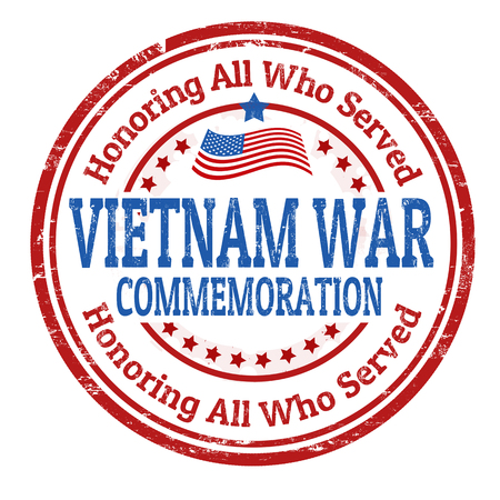 Grunge rubber stamp with the text Vietnam War Commemoration written inside, vector illustration