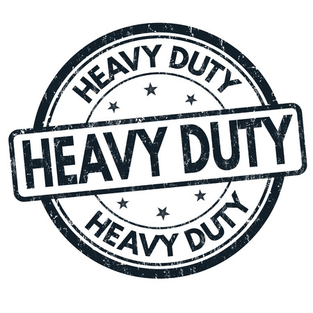 heavy duty: Heavy duty grunge rubber stamp on white background, vector illustration