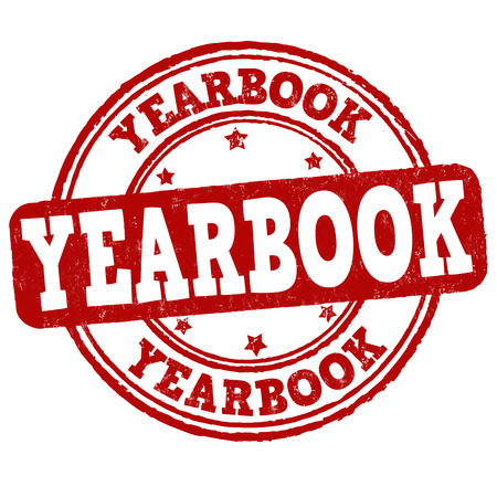 chronicle: Yearbook grunge rubber stamp on white background, vector illustration
