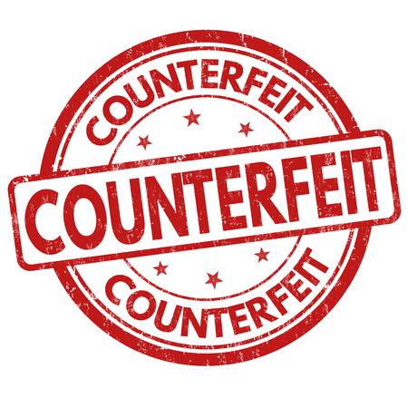 counterfeit: Counterfeit grunge rubber stamp on white background, vector illustration