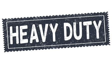 weighty: Heavy duty grunge rubber stamp on white background, vector illustration