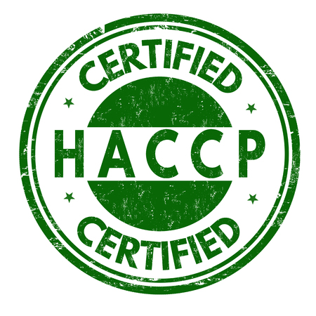 HACCP (Hazard Analysis Critical Control Points) grunge rubber stamp on white background, vector illustration Vettoriali