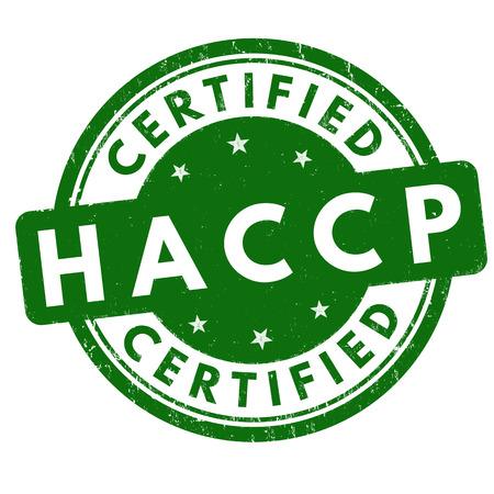 Timbro di gomma di lerciume di HACCP (punti critici di controllo di analisi) su fondo bianco, illustrazione di vettore Archivio Fotografico - 69080729
