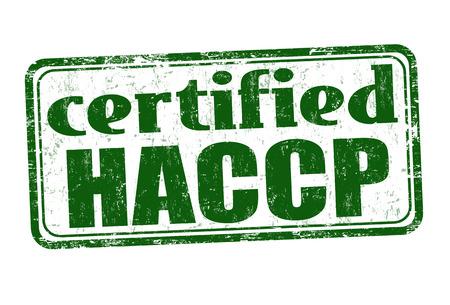 HACCP (Hazard Analysis and Critical Control Points) Grunge-Stempel auf weißem Hintergrund, Vektor-Illustration