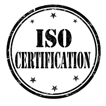certification: ISO certification grunge rubber stamp or sign on white background, vector illustration
