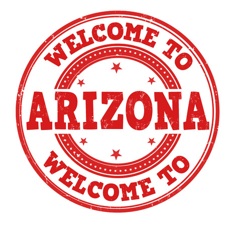 Welcome to Arizona grunge rubber stamp on white background, vector illustration Illustration
