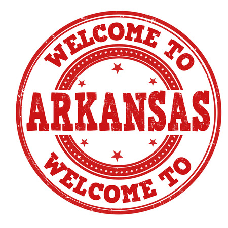 Welcome to Arkansas grunge rubber stamp on white background, vector illustration