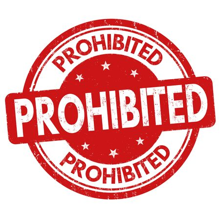 refused: Prohibited grunge rubber stamp on white background, vector illustration Illustration
