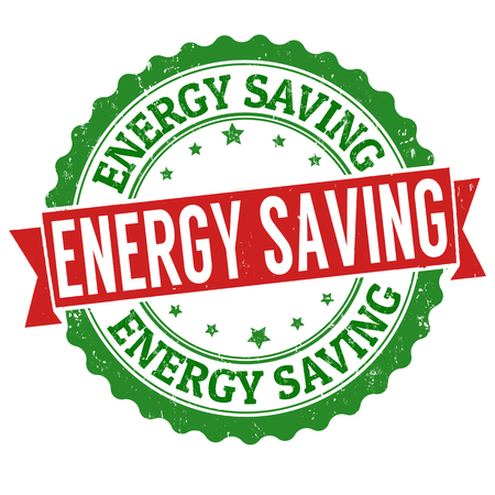 Energy saving grunge rubber stamp on white background, vector illustration Illustration