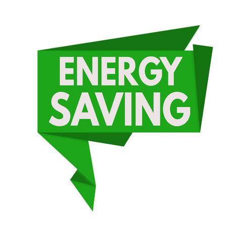 Energy saving origami speech bubble on white background, illustration