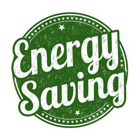 power of money: Energy saving grunge rubber stamp on white background, vector illustration Illustration