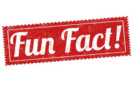 fact: Fun fact grunge rubber stamp on white background, vector illustration Illustration