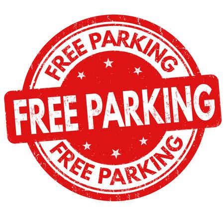 Un parking gratuit caoutchouc grunge timbre sur fond blanc, illustration vectorielle