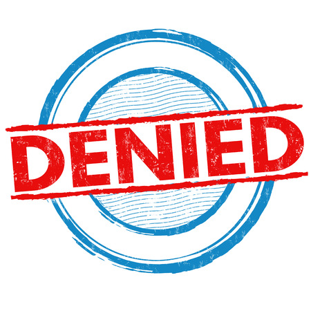 Denied grunge rubber stamp on white background, vector illustration