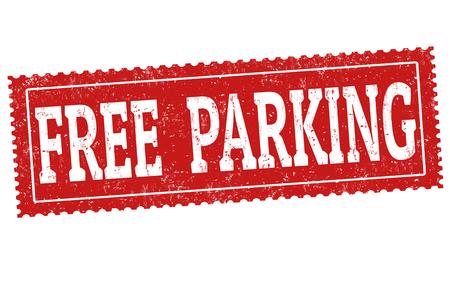 Free parking grunge rubber stamp on white background, vector illustration