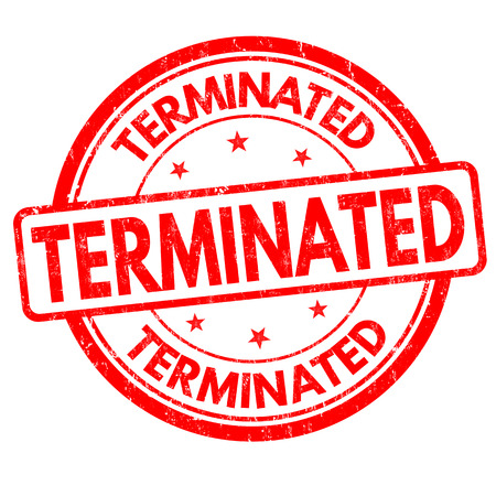 Terminated grunge rubber stamp on white background, vector illustration